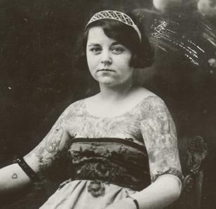 Ada Mae Vandermark, tattooed lady